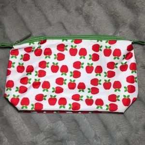 NWOT Clinique Red Apple Makeup Cosmetic Bag